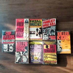 Lot of 8 Teen/Family/Cop Killers